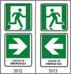 ART. 87/B CARTELLO SEMPLICE PER INDICAZIONE DI EMERGENZA